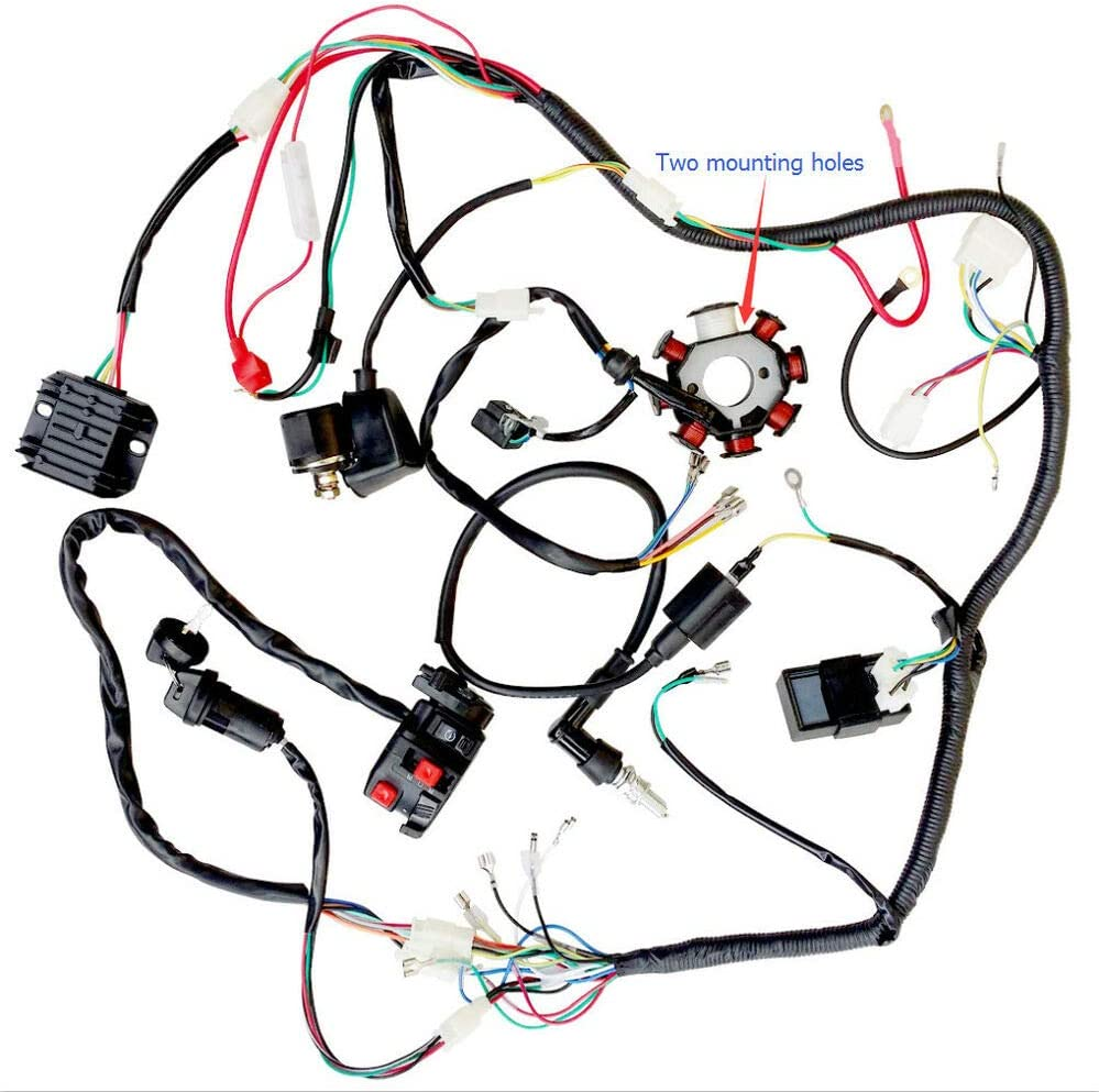 Amazon.com: Complete Wiring Harness Rectifier Hummer 200cc 250cc,  Compatible with ATV Gokart Buggy Dirt Bike: Home ImprovementAmazon.com