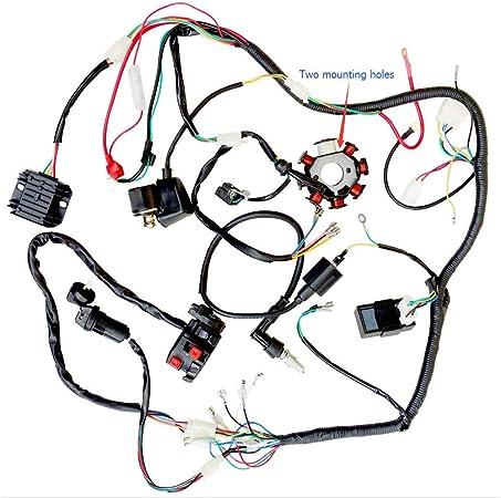 loncin 200cc atv wiring diagram amazon com complete wiring harness rectifier hummer 200cc 250cc  hummer 200cc 250cc