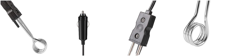 Bostar Mini Calentador de Inmersi/ón de Coche Port/átil para T/é Caf/é Agua Bebidas y Calefacci/ón El/éctrica 12 V