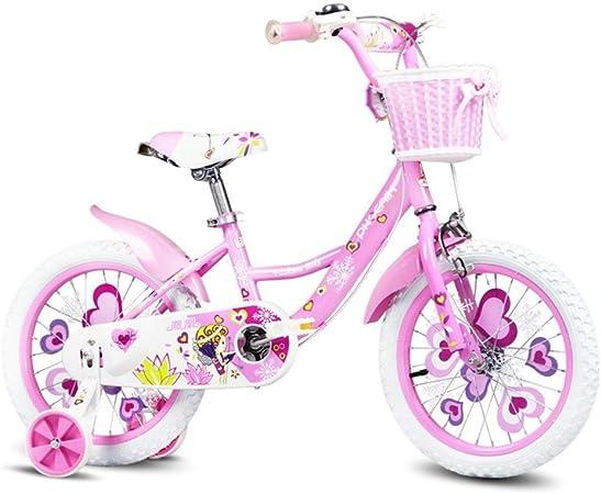 Bicicletas niños niña de 12/14 Pulgadas Deportes al Aire Libre niña de 2 a 6 años (Color : Pink, Size : 96 * 75cm): Amazon.es: Hogar