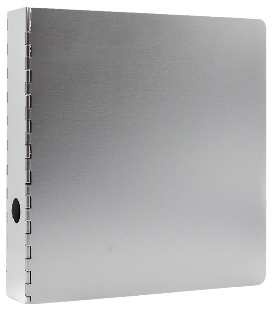 Bindertek 3-Ring 2-Inch Heavy Duty Metal Binder, Silver (MTBIND-SL) Bindertek -- Dropship