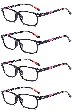 3f229ec001b VEVESMUNDO Reading Glasses Floral Vintage Retro Eyeglasses Eyewear For Women  Men (4 Floral Black Readers