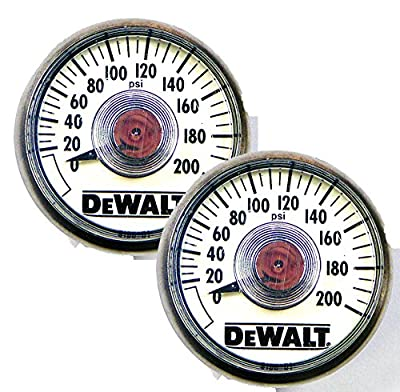 DeWalt Compressor Replacement (2 Pack) Air Pressure Gauge # 5130205-00-2pk by BLACK+DECKER