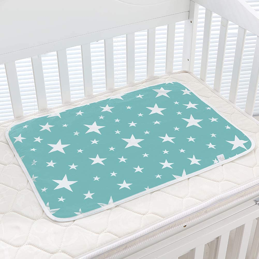 Steellwingsf Star Duck Print Infant Baby Crib Diaper Changing Mat Cotton Waterproof Reusable Change Diapers 4#