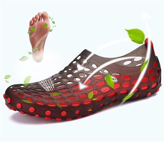 W&XY Sandali maschili sandali traspiranti scarpe Baotou Mesh pantofole , 44 , brown