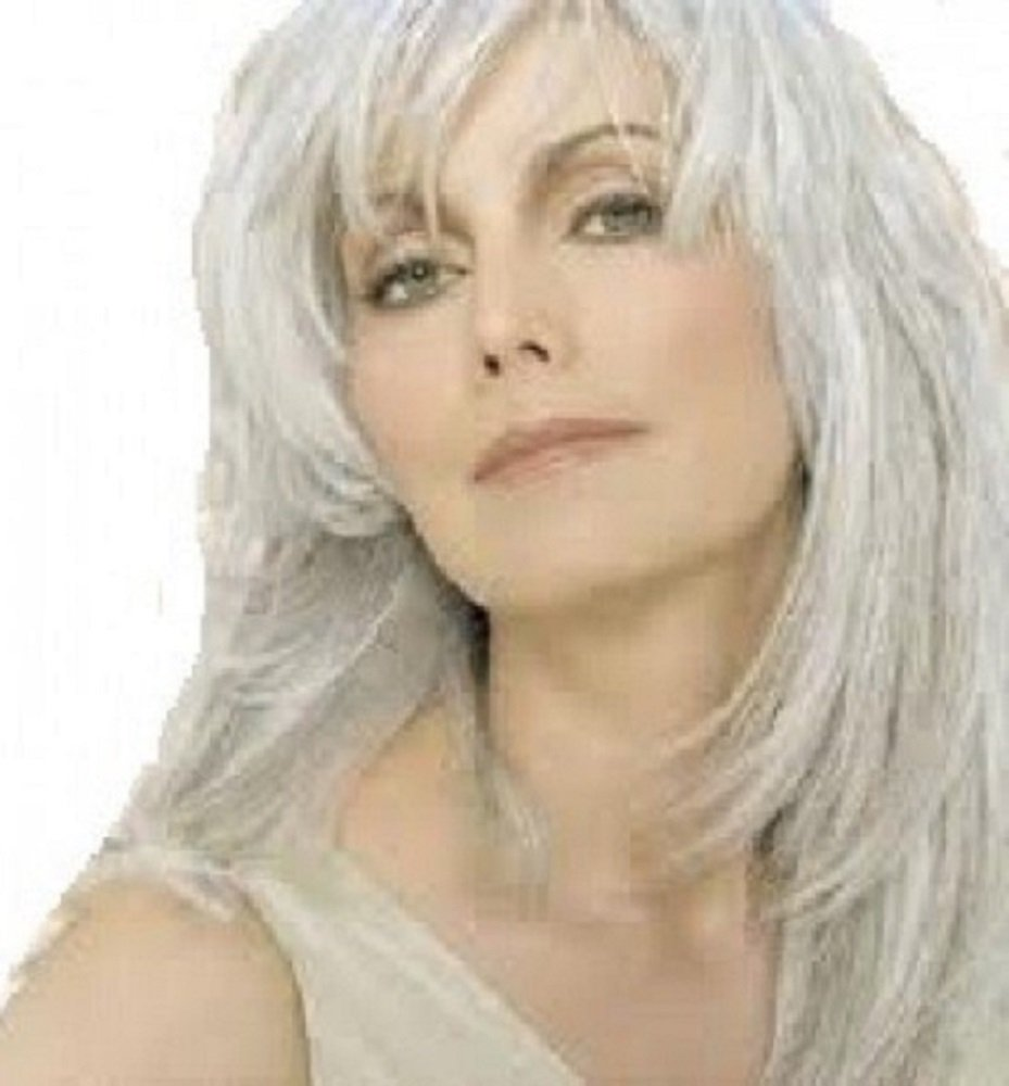 Amazon One Piece Clip In Fringe Bangs Hairpiece Silver Grey