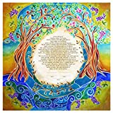Custom Ketubah - Jewish Wedding Contract - Personalized Ketubah - Jewish Judaica Art - Hebrew English - Blessings