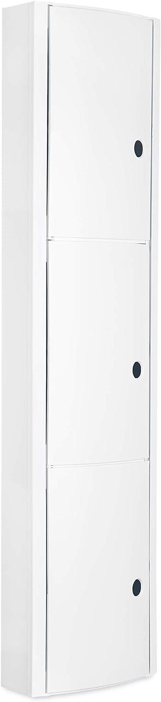 Tatay 4480002 - Armario de baño Vertical en PP, 22 x 10 x 90,5 cm, Apto para Sistema de fijación Glu&Fix armarios, Blanco