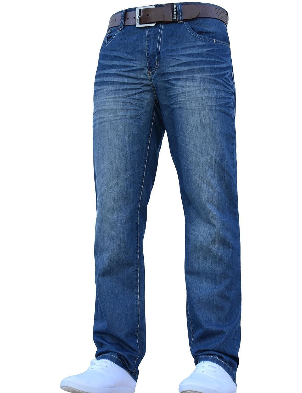 Crosshatch para Hombre Nuevo Farrow Funda Denim Jeans con Cinturón