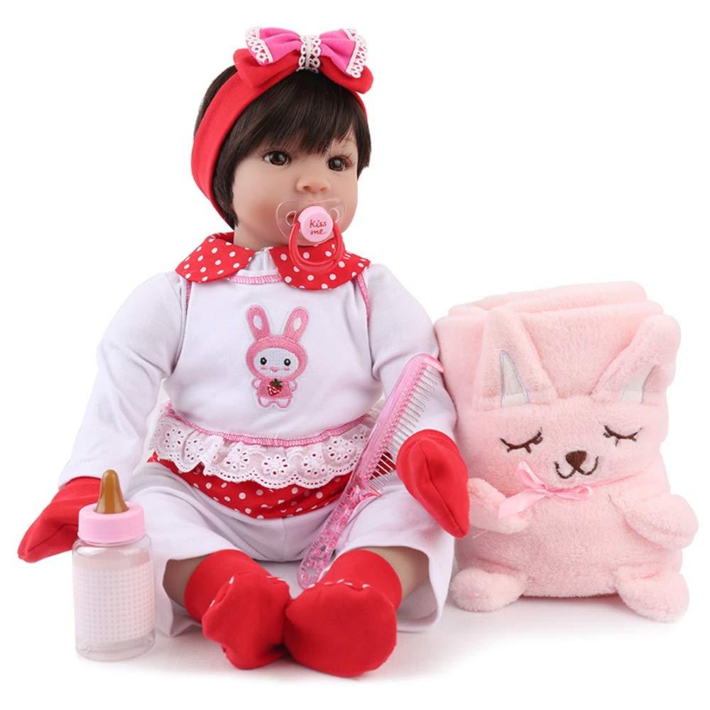 Kids Beach Toys Newborn Baby Doll With Clothes Gloves Socks Hair Crown Comb Feeding Toys Milk Bottle Rewborn Nursery Baby Alive Realistic Lifelike Doll Baby Toddlers Infants Girls Boys Gift Set Preten