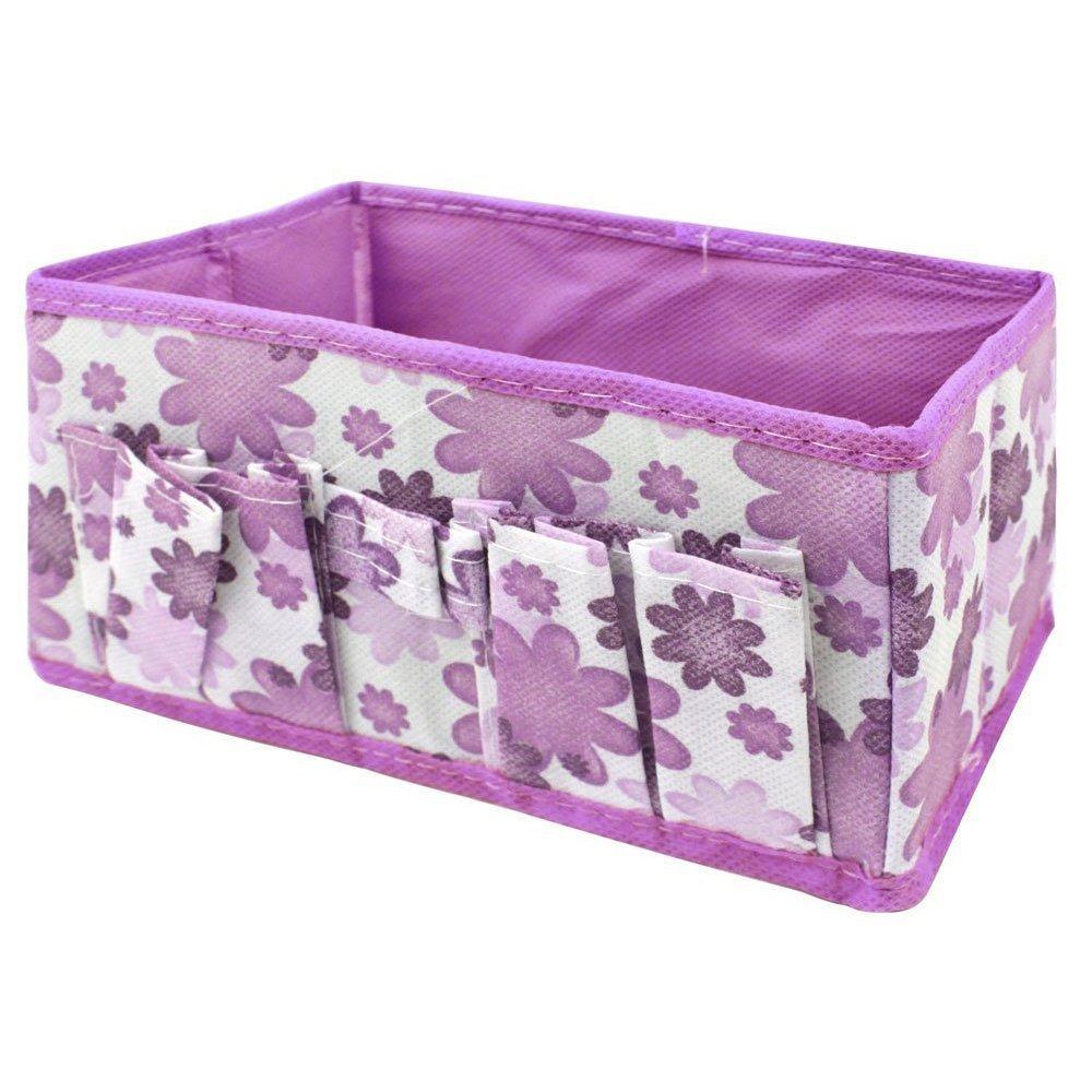 toruiwa Makeup Box Cestino portaoggetti da tavolo organizzatore di cassetto scatola di scarpe per Lingerie Giocattoli trucco Violet