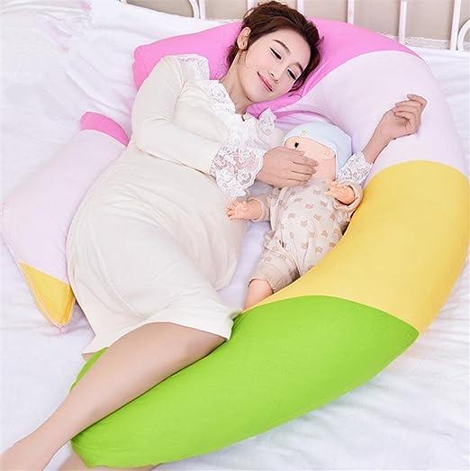 Mujer embarazada en forma de U cojín de lactancia almohada ...