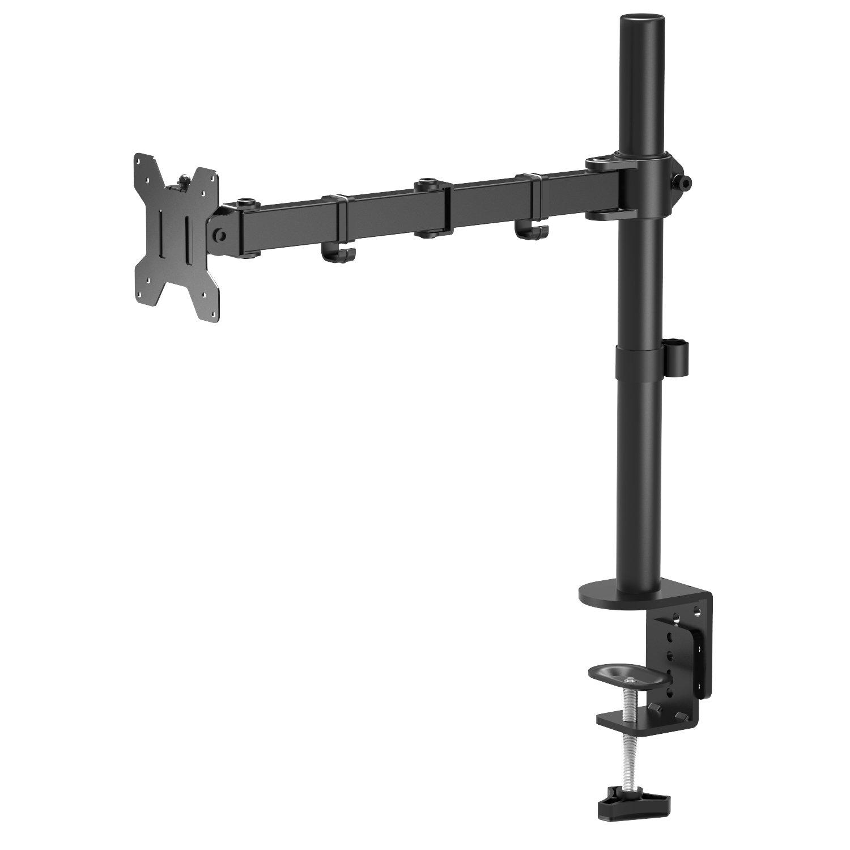 1home Supporto per Monitor da Scrivania Singolo Braccio LCD LED con Molla a Gas 13 - 27 Pollici GDM01U