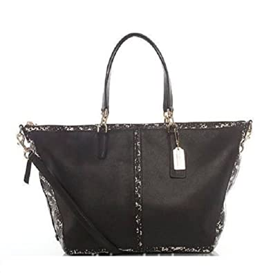 e0121b341032 Amazon.com  COACH Bleecker Cooper Satchel in Two Tone Python Embossed  Leather 27984  Shoes