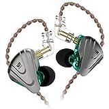 KZ ZSX 重低音 イヤホン 5BA+1DDを搭載 ハイブリッドイヤホン カナル型 高遮音性 イヤホン 高音質 中華イヤホン 2pin リケーブル可能 青(マイクなし)