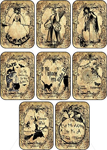 Vintage images Halloween witches pumpkin cat bottle stickers labels Potion Bottle Sticker Labels Voodoo New Orleans Halloween Wine Mardi Gras 8 bottle label stickers apothecary labels