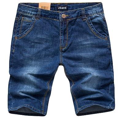 4fb06c3890b11 Insun Herren Denim Shorts Bermuda Übergröße Jeans Sommer Kurze Hose ...
