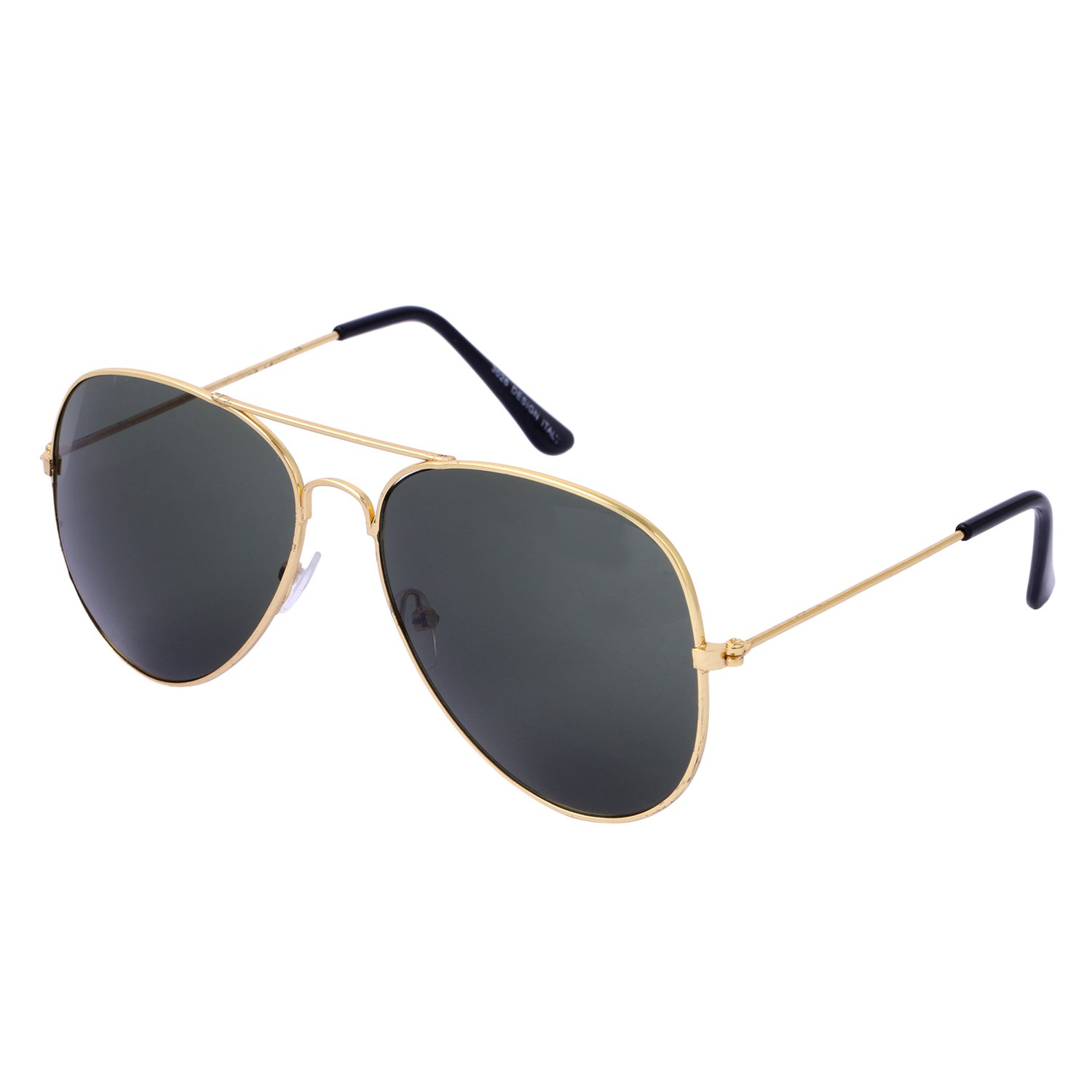 781bd7c5388 Vars Unisex Navy Color Lens   Golden Metal Frame Aviator Sunglasses   Amazon.in  Clothing   Accessories