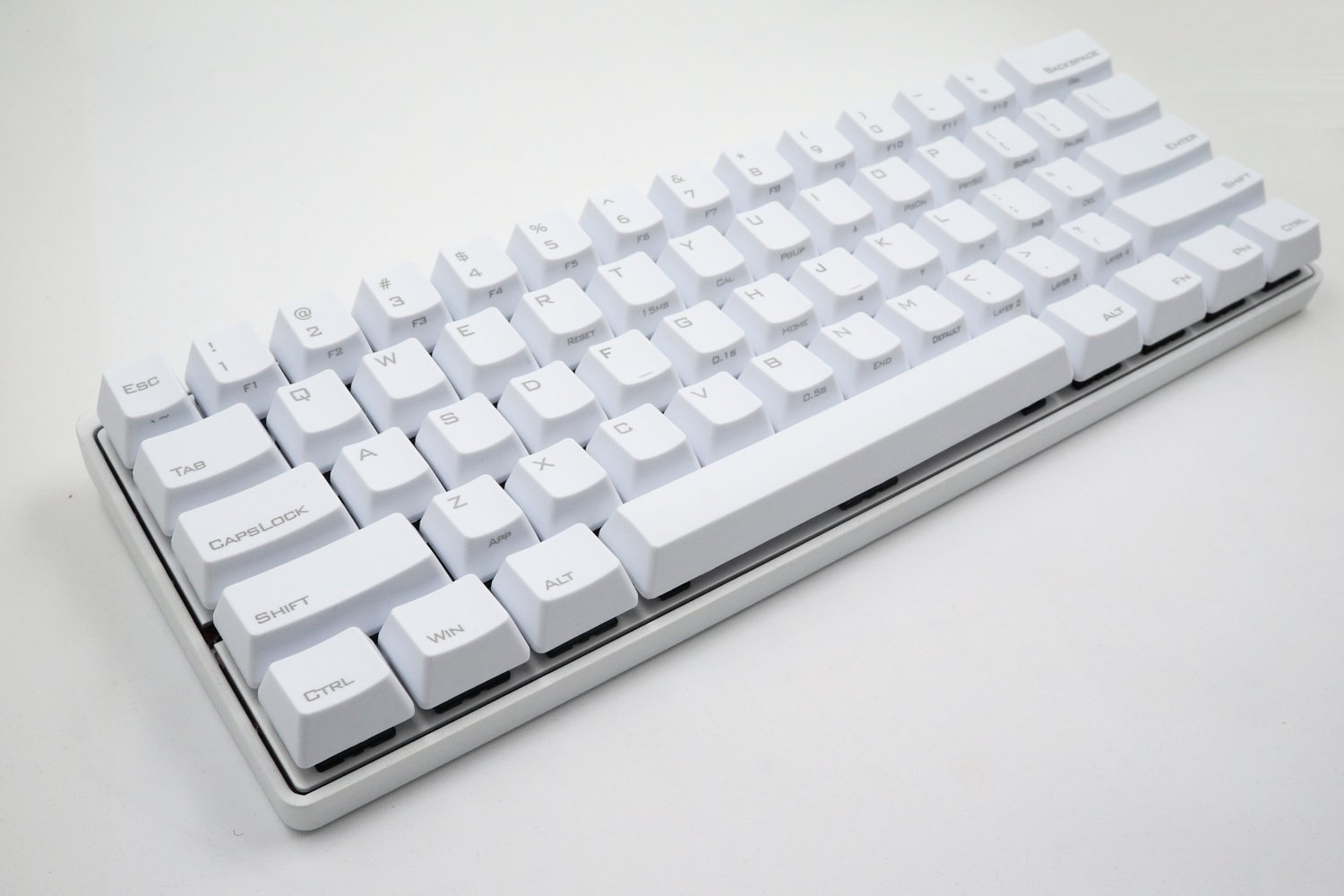 Mechanical Keyboard - KBC Poker 3 (Pok3r) - White Case - PBT Keycaps - Cherry Mx-Milky [Metal Casing]