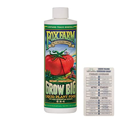 Amazon.com: FoxFarm Grow Big Liquid Concentrate, 16 oz + ...
