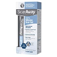 ScarAway 100% Medical-Grade Silicone Scar Gel for Face, Body, Surgical, Burn, Hypertrophic...