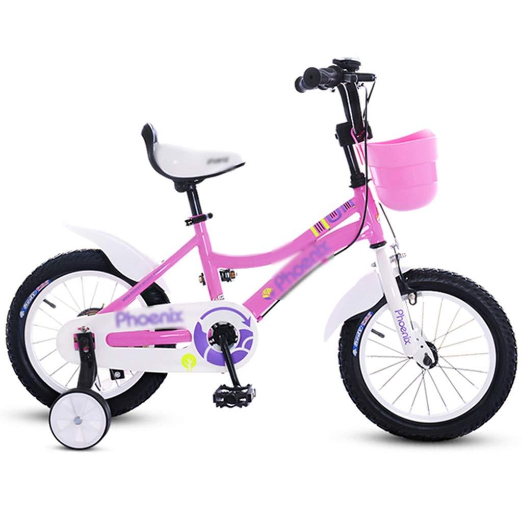 女の子用自転車 ピンク色の子供用自転車 王女用自転車 きれいな自転車 素敵な自転車 アウトドア旅行用自転車 312歳アウトドア用旅行用自転車 (Color : Pink, Size : 14inches) 14inches Pink B07R8QJV1Q