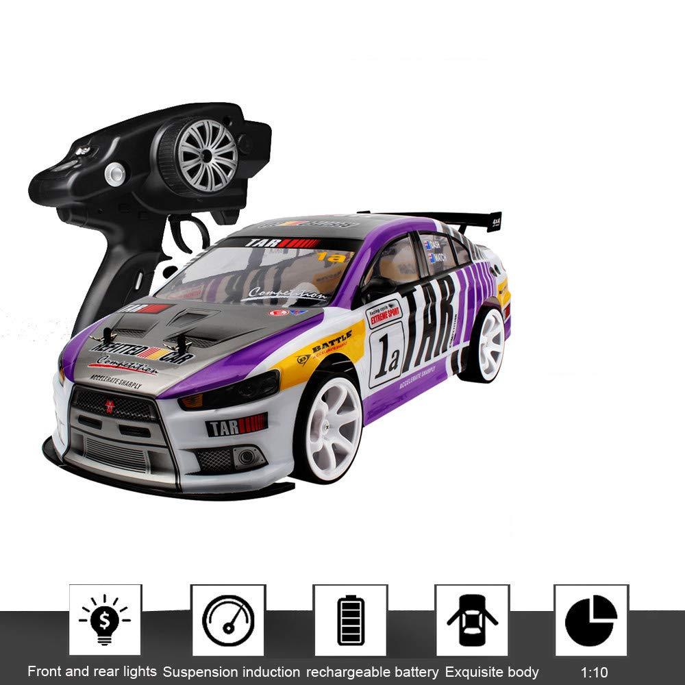 Schwarz Jamicy® RC Auto 4WD Offroad Rock 2,4 GHz 1 10 Doppelbatterie High Power LED Scheinwerfer Racing Truck, Graffiti High Speed Racing Monster Modell, 70 Km h, 20 Minuten verwenden