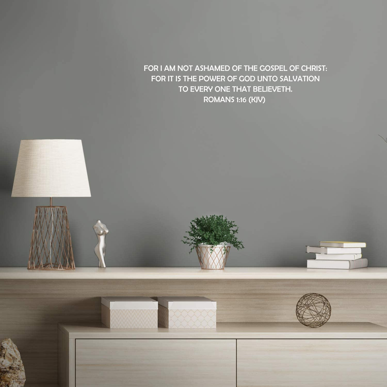 Vinyl Wall Art Decal - Romans 1:16 for I Am Not Ashamed of The Gospel of Christ - 5
