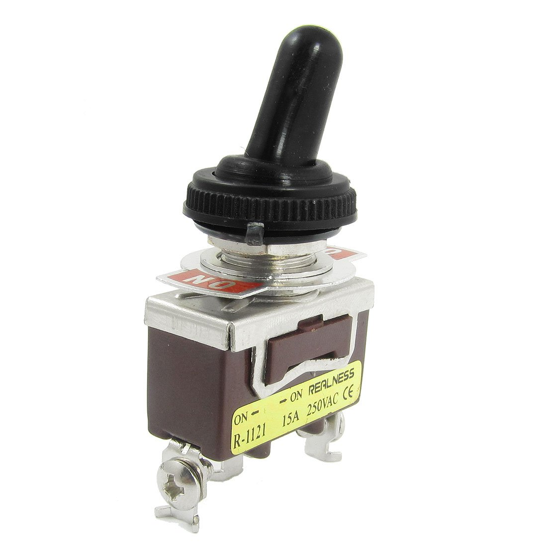 Uxcell On-On 2 Position SPDT 1P2T Latching Toggle Switch, 15 Amp/250V AC a12040900ux0621