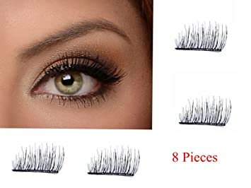 Magnetic Eyelashes[No Glue] 8 Pieces Fake Eyelashes 100% Siberian reusable Mink Fur
