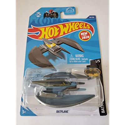 Hot Wheels 2020 Batman Batplane, Gray 56/250: Toys & Games