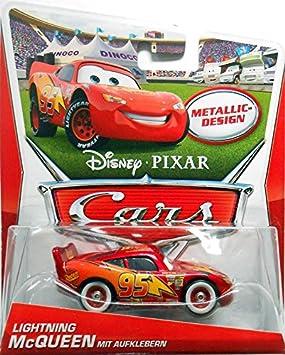 Disney Pixar Cars Lightning Mcqueen - Rayo McQueen Metallic design: Amazon.es: Juguetes y juegos