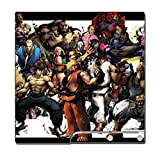 Street Fighter Super Ultra IV 2 3 III II Ken Ryu Bison Chun Li Guile Vega Zangief Video Game Vinyl Decal Skin Sticker Cover for Sony Playstation 3 PS3 Slim