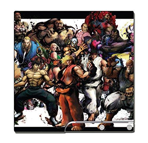 Street Fighter Super Ultra IV 2 3 III II Ken Ryu Bison Chun Li Guile Vega Zangief Video Game Vinyl Decal Skin Sticker Cover for Sony Playstation 3 PS3 Slim