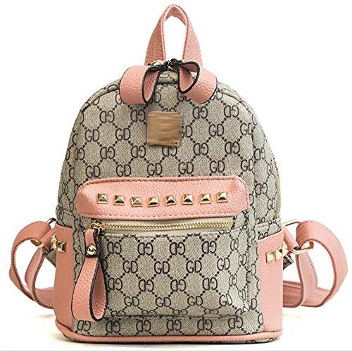 Fashion Multi Soft 24cm Handbag Women's function pu Backpack Leather 11 19 Bag Casual Wrqrnw7tX