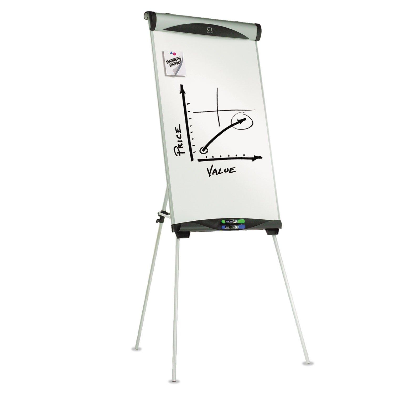Quartet® Euro™ Magnetic Dry Erase Tripod Easel, 27 x 39, White
