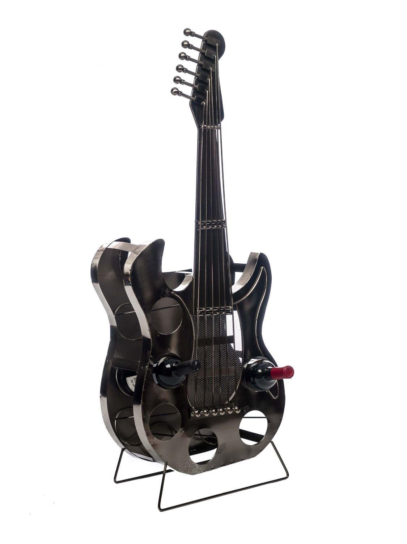 Porte-bouteilles en forme de guitare - 107 cm