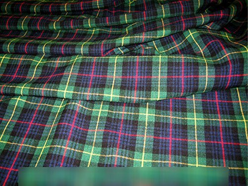 Brushed Tartan Scottish Warm Acrylic fabric Burns Night Table runner cloth Spread Kilt Blanket wax jacket lining material -Blackwatch-5Mtr by - Table Kilt Scottish