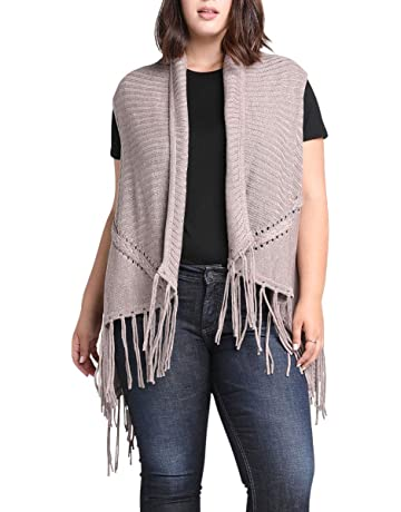 f0b6e74d573770 Women's Cable Knit Sweater Vest with Fringe