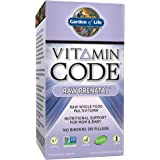 Garden of Life Vegetarian Prenatal Multivitamin Supplement with Folate - Vitamin Code Raw Prenatal Whole Food Vitamin for Mom and Baby, 180 Capsules