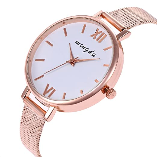 Relojes para mujer a la venta. Reloj de pulsera analógico de cuarzo para mujer con correa de cuero multicolor 🍊c Free: Amazon.es: Relojes