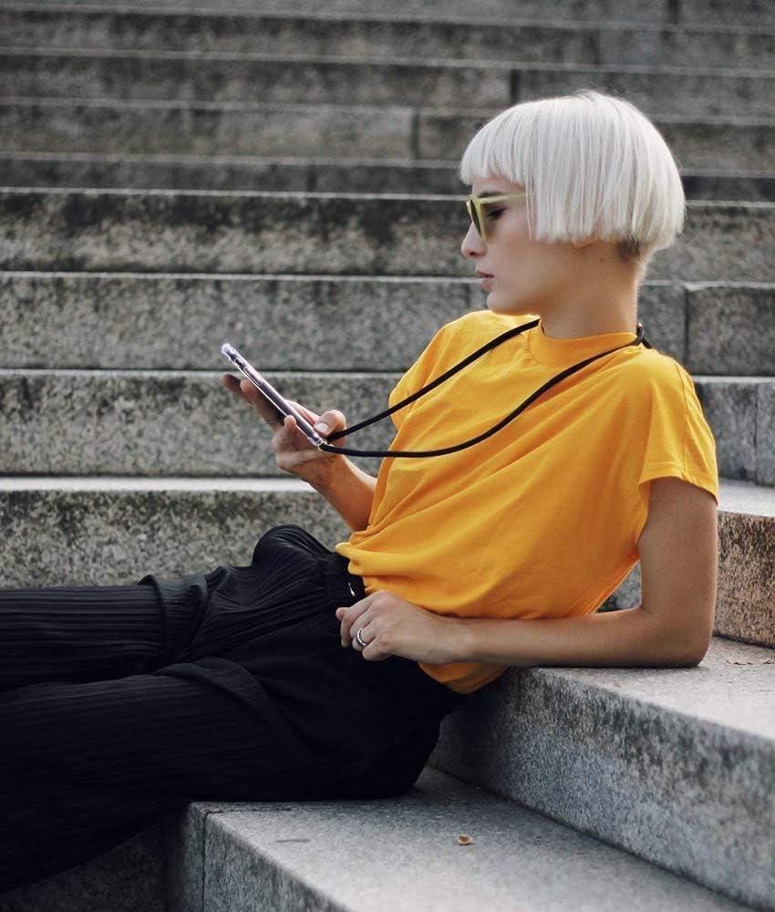 Tour de Cou Lani/ère en Corde YuhooTech Collier pour Huawei Honor View20 Coque /étui de t/él/éphone avec Cordon Housse pour Smartphone Lanyard Case Holder Cover Necklace Bandouili/ère Styl/ée