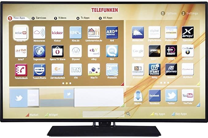 Telefunken - Smart TV de 24 pulgadas Full HD - Modelo n. TE24472B40Y2F: Amazon.es: Electrónica