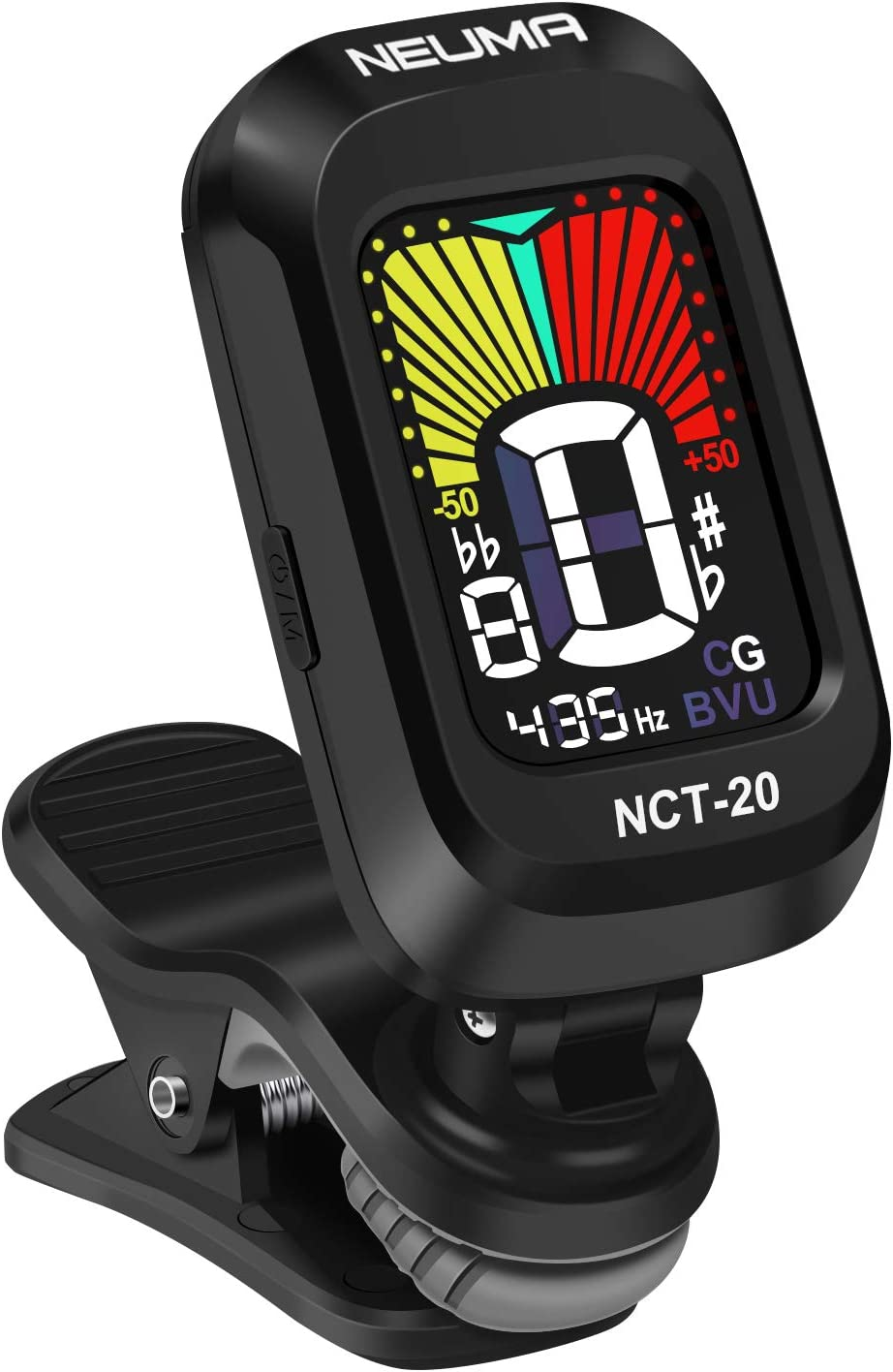 NEUMA Clip-On Tuner for Guitar,Bass,Ukulele,Violin,Viola,Chromatic Tuning Modes,360 Degree Rotating, Fast & Accurate, Easy to Use