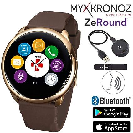 Amazon.com: ZeRound - Reloj inteligente con altavoz y ...