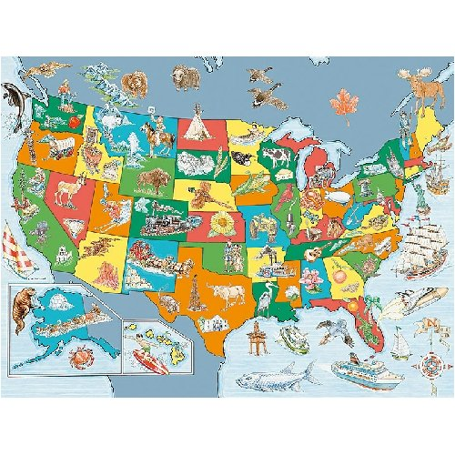 Ravensburger Discover And Learn United States Map Puzzle Amazon - Learn us map