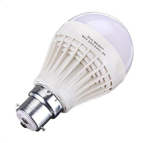 PACK OF 2 SUN BRIGHT 3W LED BULB Light Bulbs