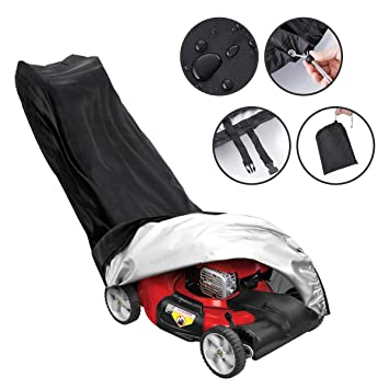 Waterproof Dust-proof Lawn Mower Cover Dust Rain Snow Covers Storage Bag Garden Store Uv Rain Snow Protector For Yard Garden Garden Supplies
