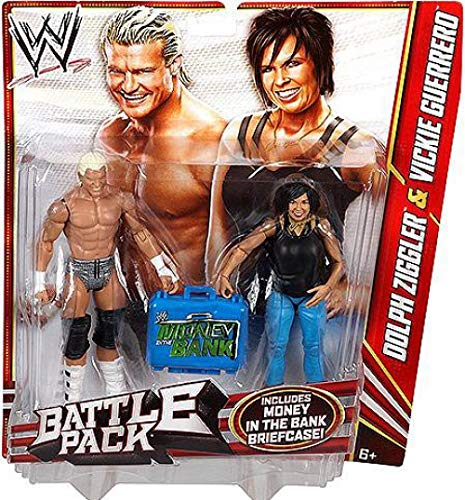 WWE Battle Pack Dolph Ziggler vs. Vickie Guerrero Action Figure, 2-Pack (Wwe Action Figures Vickie)
