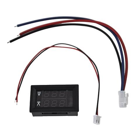 Rot LED Digital Volt Meter Voltmeter Amperemeter Blau
